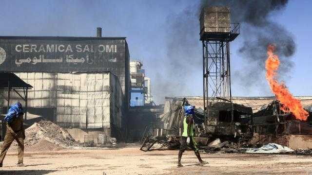 ارتفاع قتلى حريق مصنع في العاصمة السودانية إلى 23