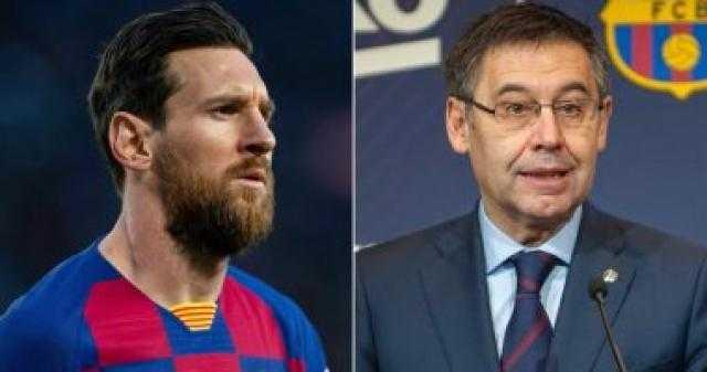 رئيس برشلونة يرفض طلب ميسى بالرحيل ويتمسك بالشرط الجزائى